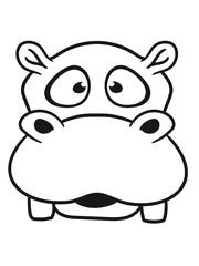 face head hippo small thick sweet cute comic cartoon hippo