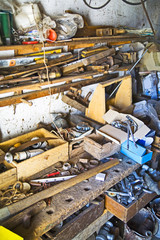Cluttered junk room