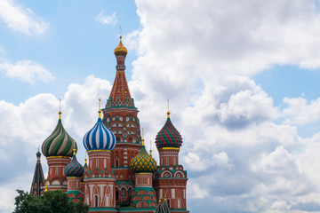 Saint Basil's Cathedral in summer,Red square,Moscow,Russia.