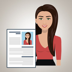 woman cv find person vector illustration graphic
