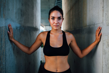 Urban sportswoman