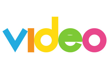 video colorful vector letter banner