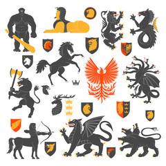 Heraldic Animals And Elements 2