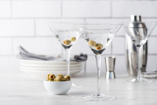 Fresh home made vodka martini cocktails