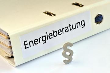 Energieberatung, Energieberater, Paragraf, Ordner, Gesetz, Wärmeschutzverordnung, Energiesparverordnung, Wärmedämmung, Wohngebäude, CO2, regenerative Energie