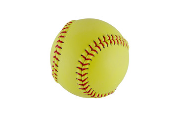 Softball on clear white background. Clipping path included.