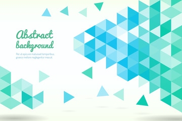 Abstract triangle shapes. Geometric modern template for business or technology presentation