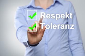 Respekt u. Toleranz