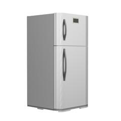 grey fridge isolated on white