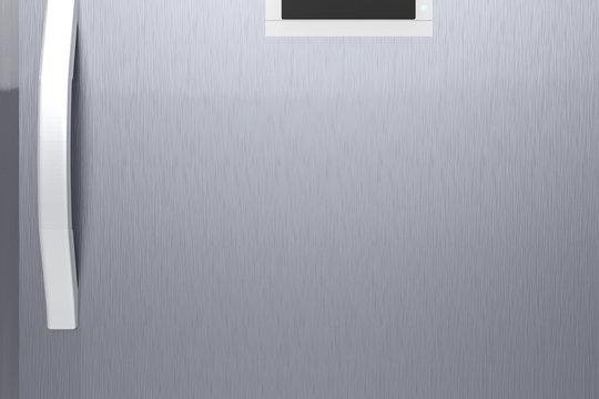 silver fridge door with handle