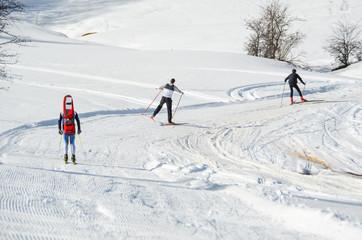 ski race competition , skier in Metsovo Profitis Ilias Greece