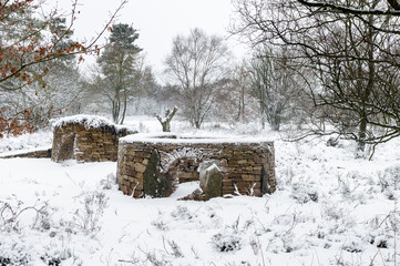 Dry Stone wall structures or Animal Shelters in North Yorkshire,