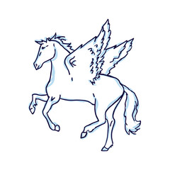 Pegasus on a white background