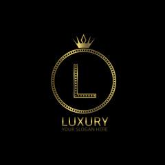 Luxury golden label