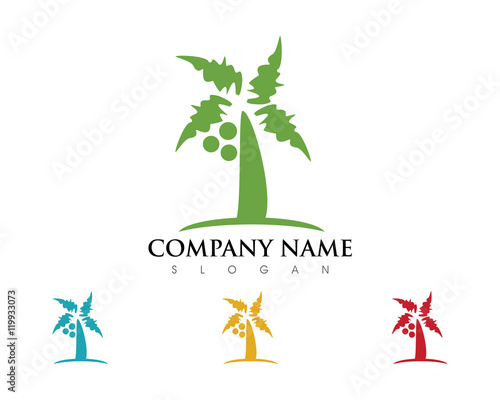 quotcoconut tree logoquot stock image and royaltyfree vector