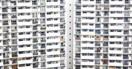 Urban life symbol, populous house