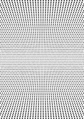 Symmetrical halftone dots background rectangular A4 size. Vector minimal texture for the design of posters, cards, brochures, banners and your other creative designs
