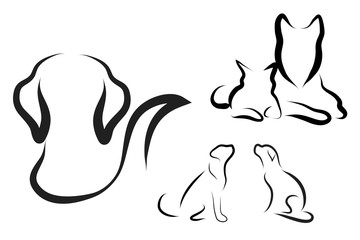 Vector animal logo.