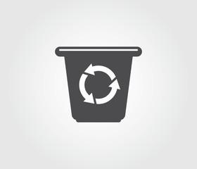 Recycling Bin With Arrows Symbol