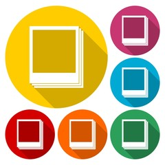 Photos icon. Vector illustration
