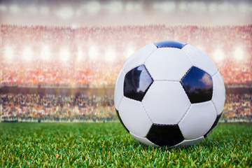 football in the stadium