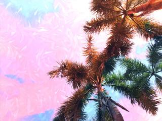 Palm tree gradient pastel tone