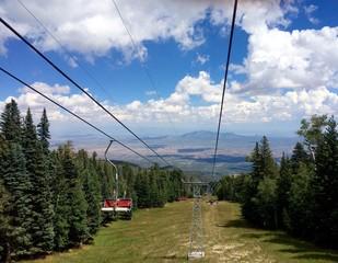Sandia Mountain Ski Lift in Summer