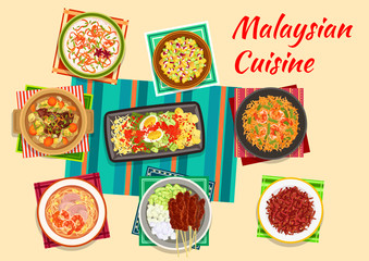 Malaysian cuisine traditional dinner icon