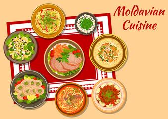 Moldavian cuisine tasty dinner icon