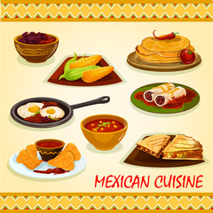 Mexican cuisine spicy dishes icon