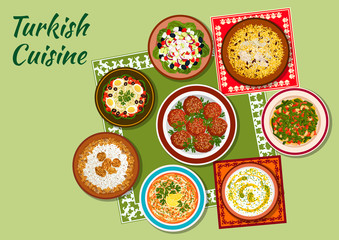 Summer dishes of turkish cuisine icon