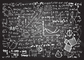 Math linear mathematics education circle background with geometr