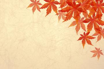 秋もみじ和紙-背景