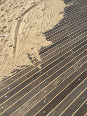 Boardwalk with sand