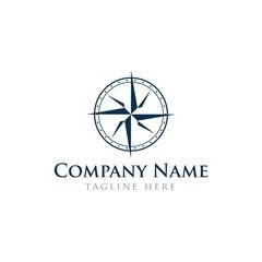 Navigation vintage concept logo design vector template