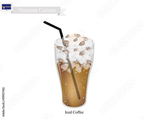 """""""Iced Coffee, A Famous Drink in Nauru"""" obrazów stockowych ..."""