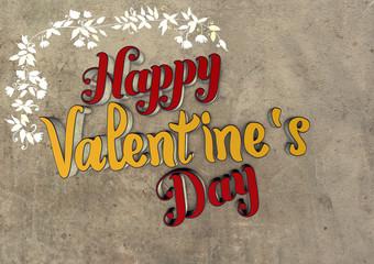 Happy, Valentines Day, 3D