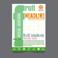 vector fruit Brochure