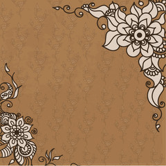 abstract vector pattern of a tattoo henna