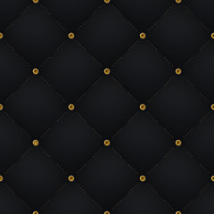 Seamless luxury dark black pattern and background with blue diamond