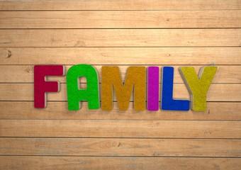 Family, 3D, Typography