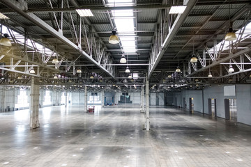 Big empty warehouse