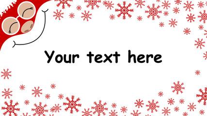 Christmas advertising banner , christmas background Santa Claus