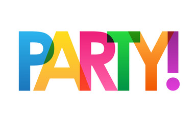 PARTY! Colourful Vector Letters Icon