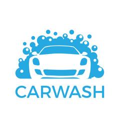 Vector abstract car and soap, carwash