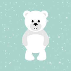 cartoon winter bear