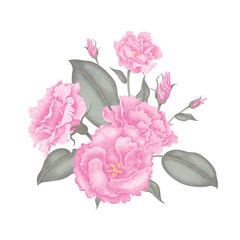 Vector illustration of a bouquet of flowers.