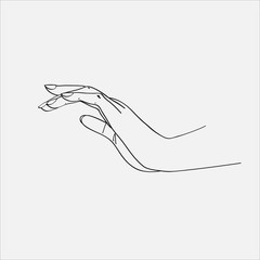 Sketch of the hands. Vector illustration.