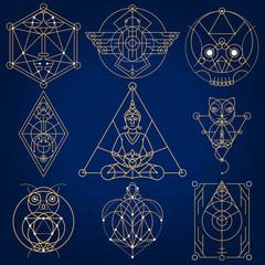 Wall Mural - Sacred Geometry Fictional Symbols
