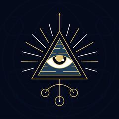 Wall Mural - The Eye Symbol - Sacred Geometry Style